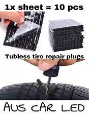 10x Tubeless Tyre Puncture Repairing Seal Repair Stick Strips Plug Self-Vulcaniz