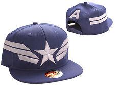 MARVEL COMICS - CAPTAIN AMERICA NAVY BLUE STAR & 'A' SNAPBACK CAP HAT (NEW)