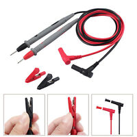 NEW Electronic Digital Multimeter Probe Test Tips Test Leads With Alligator Clip