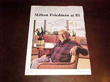 Milton Friedman Autographed Signed Forbes Magazine Photo Noble Prize Winner