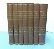 National Geographic Magazine ~ 1964 REPRINT Bound Volumes 1 - 7 (1888-1896)