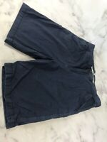Jachs Mens Size 34 Blue Flat Front Chino Shorts Casual Comfort Wear Pockets