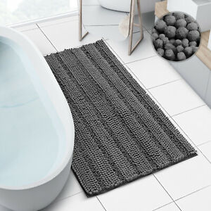 Large Bath Mat Extra Soft and Absorbent Chenille Rug for Tub Shower and Bathroom