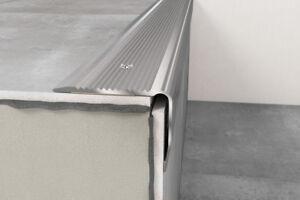 Anodised Aluminium Stair Nosing Edge Trim Step Nose Edging Nosings -1.20 m long