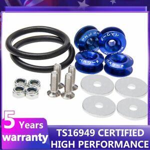 Bumper Quick Release Latch License Plate Lock Clip Car Hood Pins Lock Blue