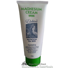 Elektra Magnesium Cream Green -  Herbal 100g.  From Food Grade MgCl. No Lead
