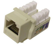 10x CAT 5E Keystone Jack U-Style Network Ethernet RJ45 110 Almond K53-143/90/AL