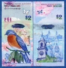 Bermuda  2009 / 2012 year Hybrid 2 Dollars BrandNew Banknotes