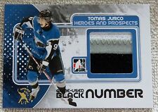 10/11 ITG H&P Tomas Jurco Black Game-Used Jersey Number Card Spring Expo 1/1