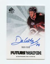 11/12 SP AUTHENTIC FUTURE WATCH ROOKIE RC AUTO #272 STEPHANE DA COSTA /999 58356