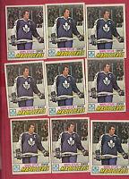 9 X 1977-78 OPC # 38 LEAFS DARRYL SITTLER  CARD