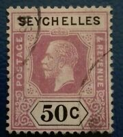 Seychelles :1917 King George V - Inscribed POSTAGE & . Rare & Collectible Stamp.
