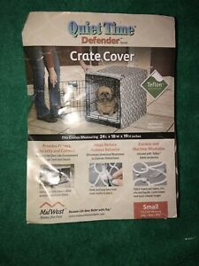 "New Pet Crate Cover Quiet Time Defender Sz Small 24""Lx18""Wx19""H Teflon Protected"