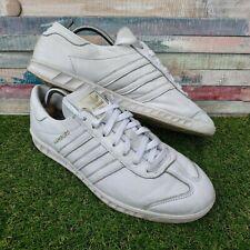 Adidas Originals Hamburg Mens UK11 US11.5 EU46 White Leather Running Gym Casual