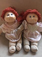 1980s TWO Dolls Red Hair Blue Eyes No Markings