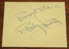 BILLY FURY HAND SIGNED AUTOGRAPH PAGE TO MOUNT & FRAME UAAC REGISTERED DEALER