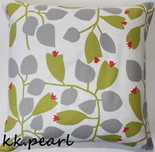 "SCION ""ROSEHIP"" Cushion Cover , Modern Scandi Retro Style Fabric , Green & Grey"