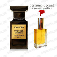 Tobacco Vanille by Tom Ford EDP Amazing Unisex Niche Decanted Spray Perfume
