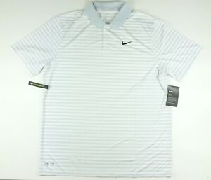 Nike Golf Victory Dri Fit Gray Stripe Polo Golf Shirt 891239-043 $55 2XL