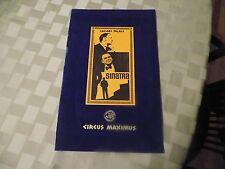Caesars Palace Las Vegas Circus Maximus Menu-1974 Frank Sinatra cover