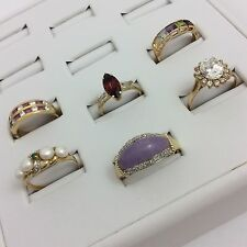 14K YELLOW GOLD LOT OF 6 RINGS