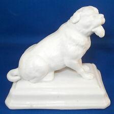 Antique 19thC French Parian Porcelain Dog Figurine Figure Porcelaine Statuette