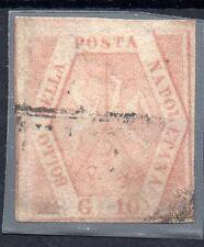 ANTICHI STATI 1859 NAPOLI E PROVINCIA 10 GRANA II° TAVOLA USATO RIF A/4563