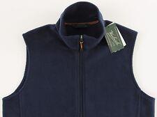 Men's WOOLRICH Navy Blue Fleece Vest Small S NWoT NEW Nice!!