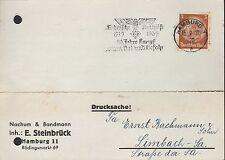 HAMBURG, Postkarte 1939, Nachum & Bandmann Inh. E. Steinbrück