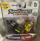 Transformers Cybertron Scattorbrain vs Monocle Robots In Disguise MOSC