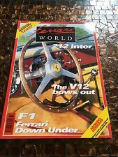 Ferrari World Magazine, rare, number 32 uk