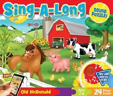 Old McDonald Sing-A-Long 24pc Jigsaw Sound Floor Puzzle By Master Pieces