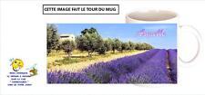 mug tasse lavande provence champ fleur personnalisable prénom / texte réf 377