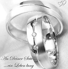 2 Eheringe Trauringe Verlobungsringe Partnerringe Hochzeitsringe + GRAVUR MA71