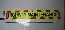 Large Highway Maintenance Sign/Sticker with chevrons- FLUORESCENT - 1200x200mm