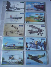 OLD EAGLES - Complete Set of 10 Different Phone Cards from Brazil