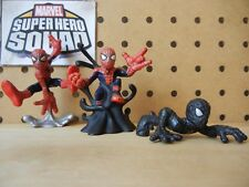 Marvel Super Hero Squad SPIDER-MAN Lot Secret Wars Origin of Black Symbiote Suit