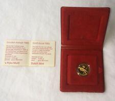 1985 GOLD DUCAT COIN Netherlands