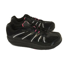 ExerSteps Womens Size 9 Shoes Black Pink Silver Exercise Fitness Athletics Euc