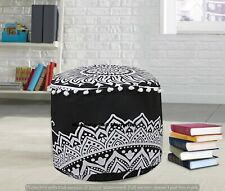 Indian 22'' Round Floor Pillows Handmade Cotton Footstools Boho Bedroom Cover