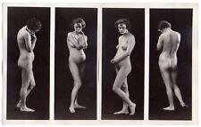 NUDE MODEL figure study ALBERT ARTHUR ALLEN Vintage Orig Photo DBW 7x11 split
