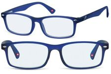 Brille mit Blaulichtfilter Montana BLF83C dunkelblau  Lesebrille für TABLET PC