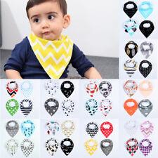 4Pcs Infant Kids Baby Roll Bibs Boy Girl Saliva Towel Dribble Triangle Bandana