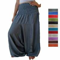 Harem Xtra pants trouser wide leg baggy elasticated Alladin 14 16 18 20 22 24 26