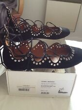 Isabel Marant Sandales daim Léoni Black Lacets 39 neuves introuvables en magasin
