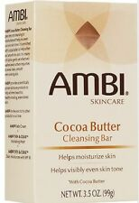 Ambi Skincare Cocoa Butter Cleansing Bar Helps Moisturize Skin 3.5oz