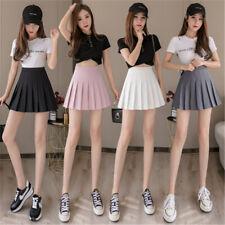 Women's High Waist Pleated Casual Tennis Style Mini Skater Skirt