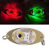 LED Tief Tropfen Unterwasser Auge Form Fischen Fisch köder Licht Blinkend G B7F2