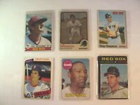 Lot 6 Topps 1970's Boston Red Sox Lot 1979 #320 Carl Yastrzemski