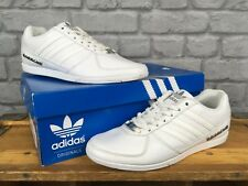 ADIDAS MENS UK 6 EU 39 1/3 WHITE PORSCHE 360 1.0 DESIGN LEATHER TRAINERS